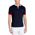 Fred Perry Men's Block Collar Polo, Dark Carbon, Medium